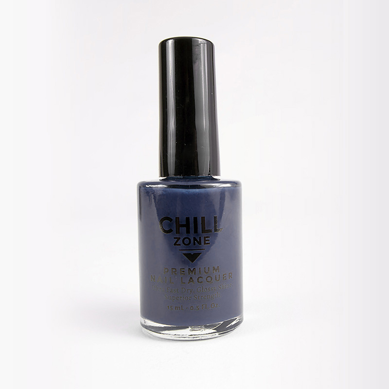 Below freezing - navy blue nail polish