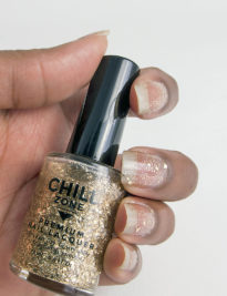 Midnight on New Years Eve - Gold Glitter Nail Polish