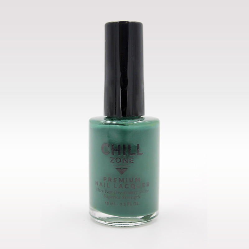 teal nail varnish