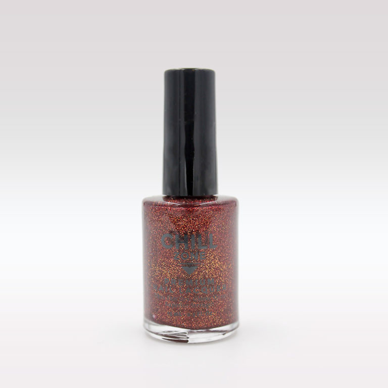 red gold glitter nail lacquer