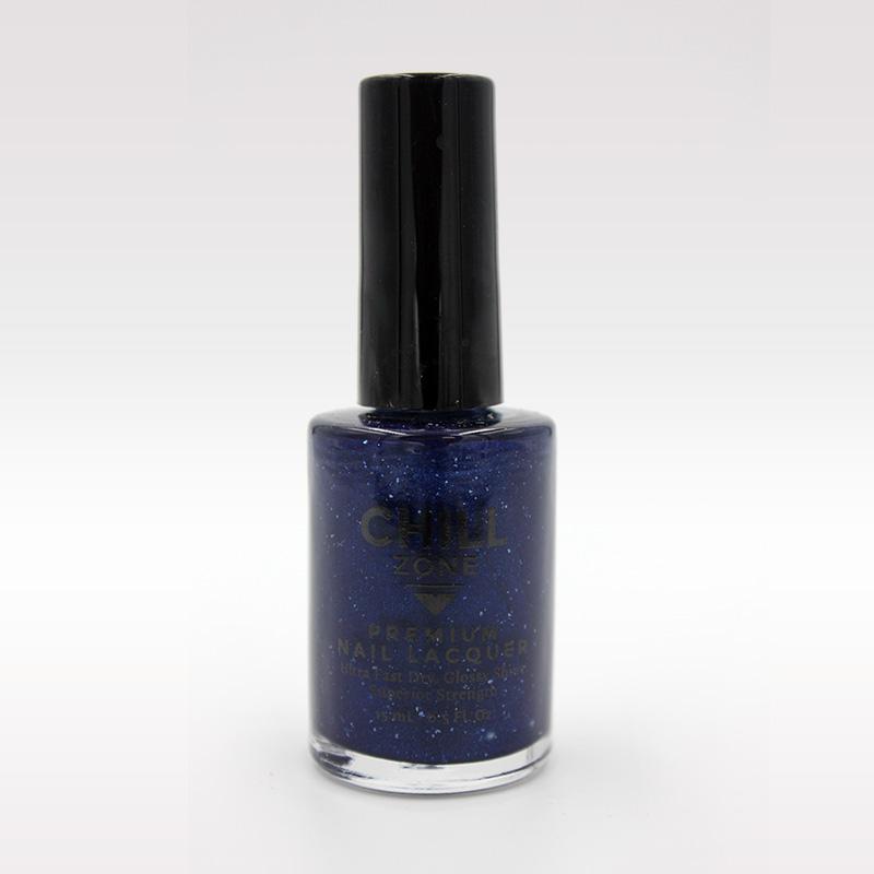 glitter blue nail polish