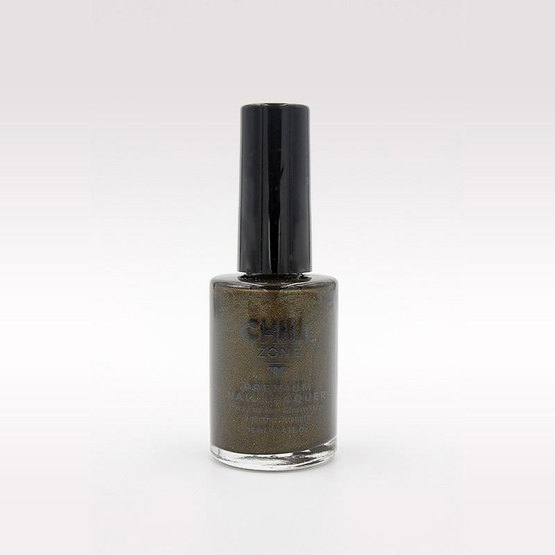 moss green shimmer nail polish