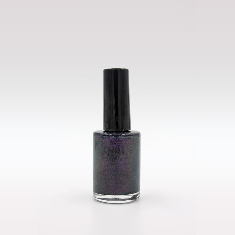 dark purple glitter polish