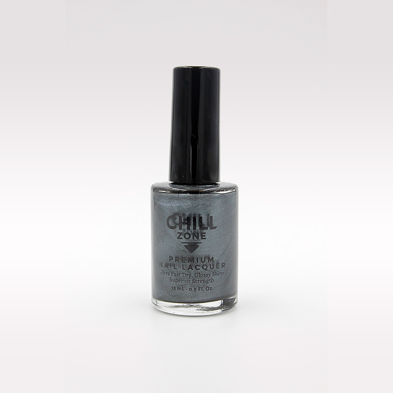 slate grey metallic nail polish