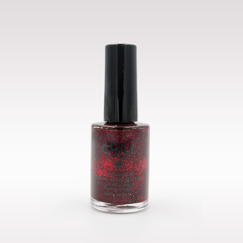 red black glitter nail polish
