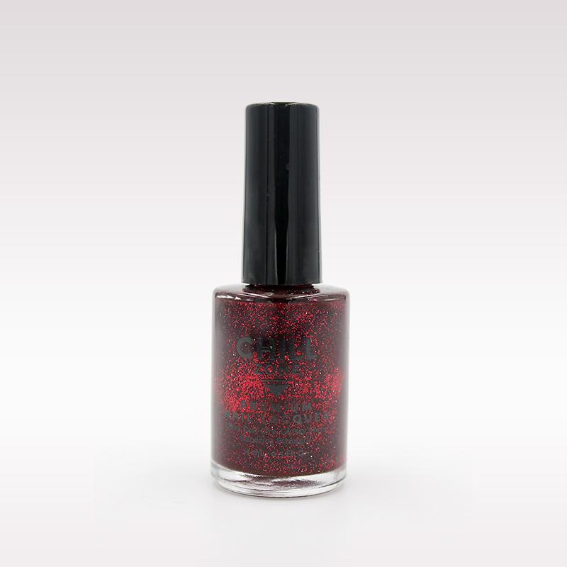 red black glitter nail polish