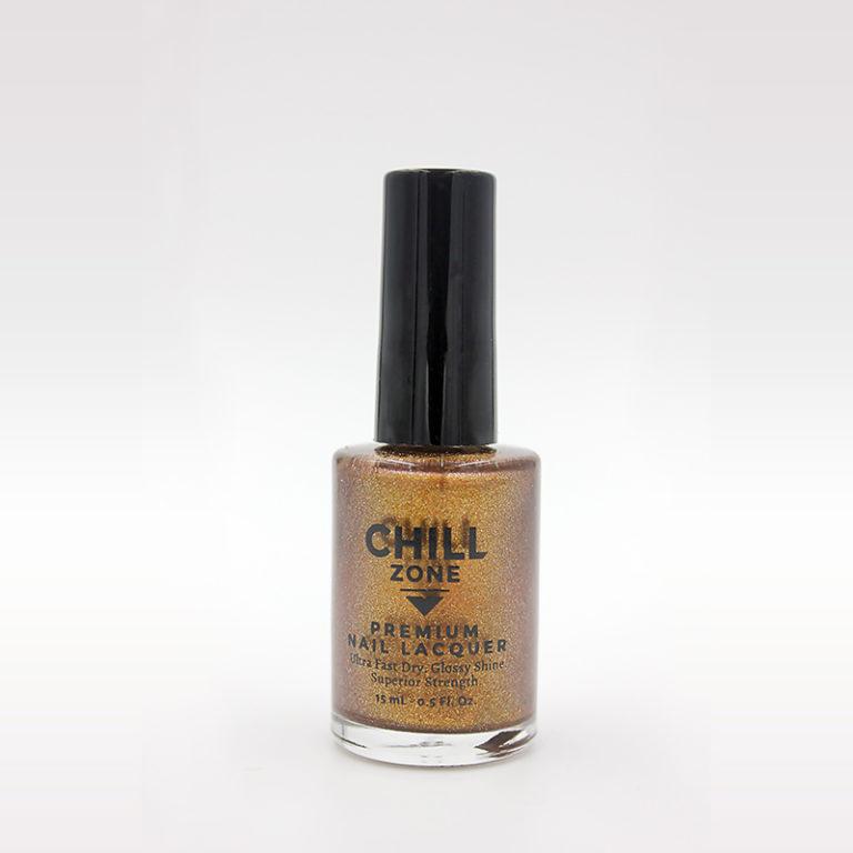 orange gold nail polish