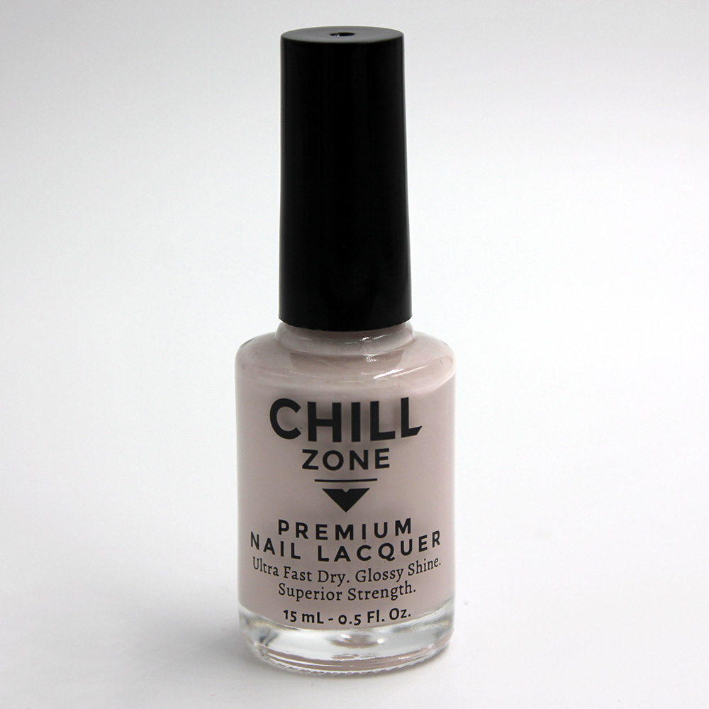 Sleek Ivory Gown. Beige Nail Polish by Chill Zone Nails