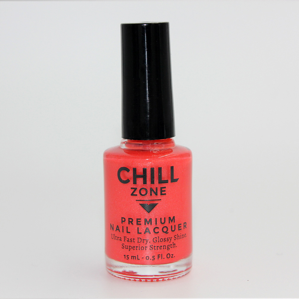 Tell Me Your Secrets. Shimmer Coral Nail Polish by Chill Zone