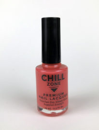 Salmon Pink-Orange Nail Lacquer by Chill Zone Nails
