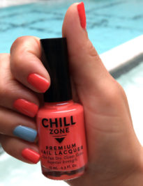 Salmon Pink-Orange Nail Polish